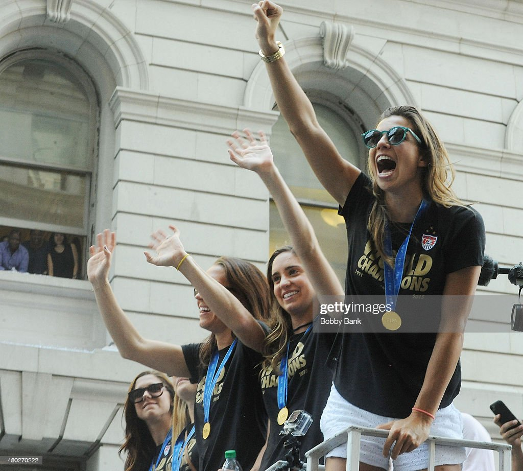 New York City Holds Ticker Tape Parade For World Cup Champions U.S. Women's Soccer National Team