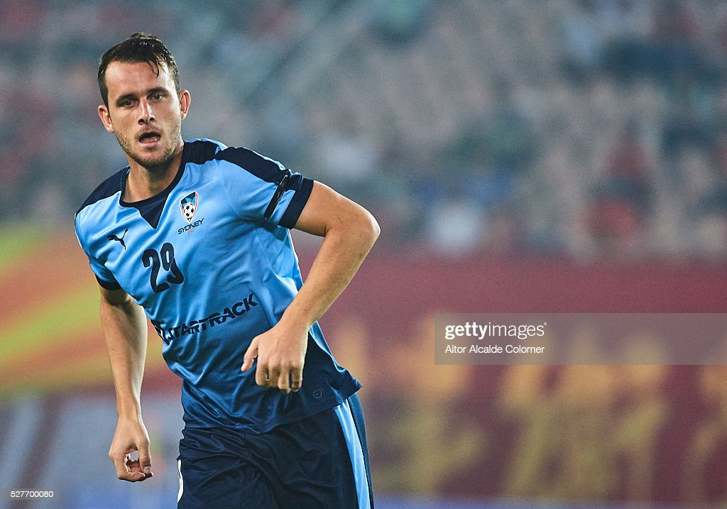 Alex Mullen of Sydney FC looks on during the AFC Asian Champions League match between Guangzhou Evergrande FC and Sydney FC at Tianhe Stadium on May 3, 2016 in Guangzhou, China.