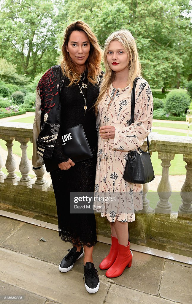Alex Myers and Sophie Kennedy Clark attend the Creatures of the Wind Resort 2017 collection and runway show presented by Farfetch at Spencer House on June 29, 2016 in London, England.