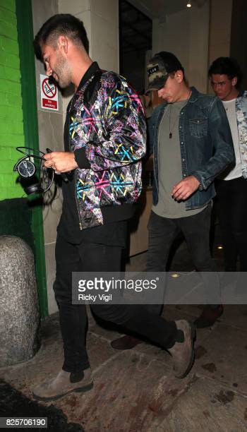 Alex Mytton and George Lineker seen on a night out at Embargo night club in Chelsea on August 2 2017 in London England