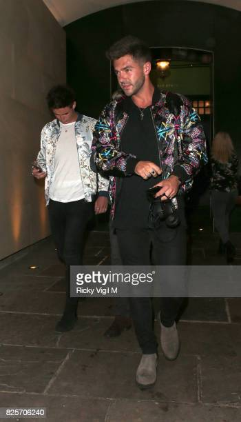 Alex Mytton seen on a night out at Embargo night club in Chelsea on August 2 2017 in London England