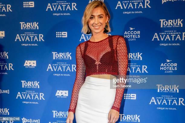Alex Nation arrives ahead of Cirque du Soleil TORUK The First Flight Melbourne Opening Night at Rod Laver Arena on November 2 2017 in Melbourne...