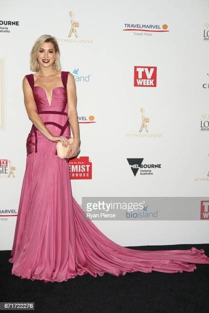 Alex Nation arrives at the 59th Annual Logie Awards at Crown Palladium on April 23 2017 in Melbourne Australia