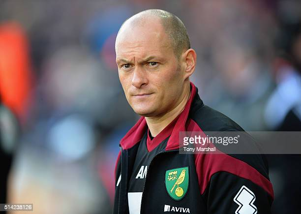 Alex Neil Manager of Norwich City during the Barclays Premier League match between Swansea City and Norwich City at Liberty Stadium on March 5 2016...