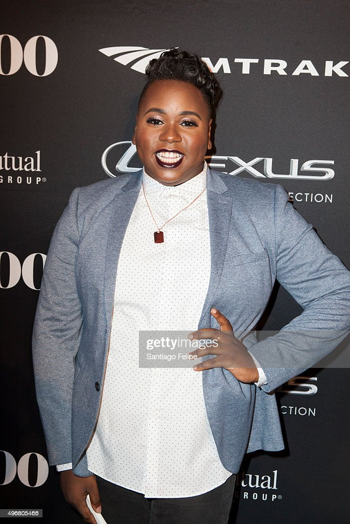 Alex Newell attends 2015 Out100 Celebration at Gustavino's on November 11 2015 in New York City