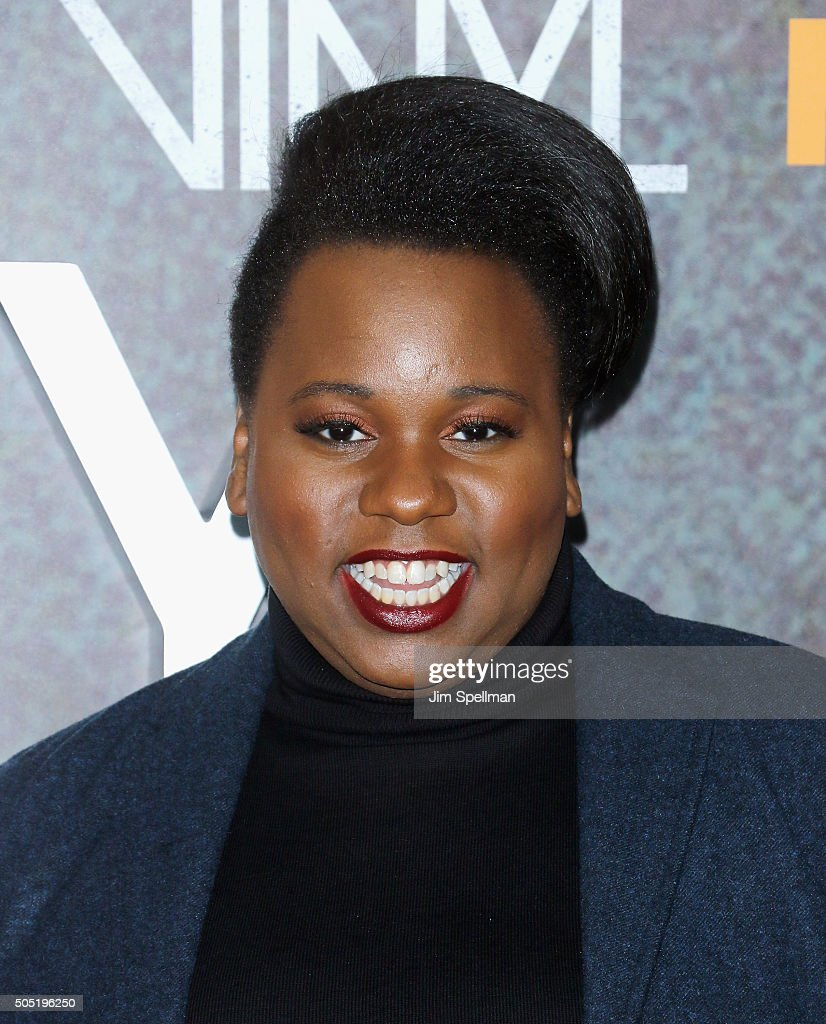 Alex Newell attends the 'Vinyl' New York premiere at Ziegfeld Theatre on January 15 2016 in New York City