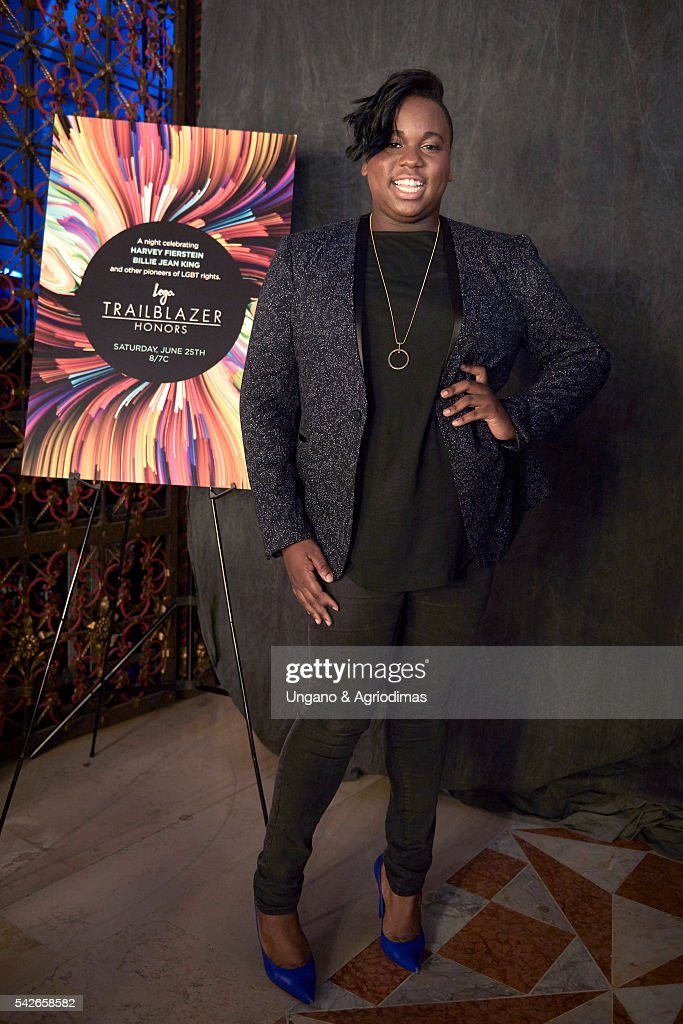 Alex Newell poses for a portrait at the 2016 Logo's Trailblazer Honors at Cathedral of St John the Divine on June 23 2016 in New York City