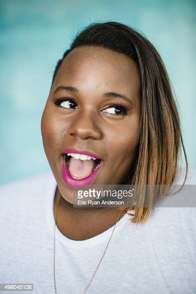 Alex Newell poses for a portrait at the Governors Ball 2015 Music Festival for Billboard Magazine on June 6 2015 in New York City