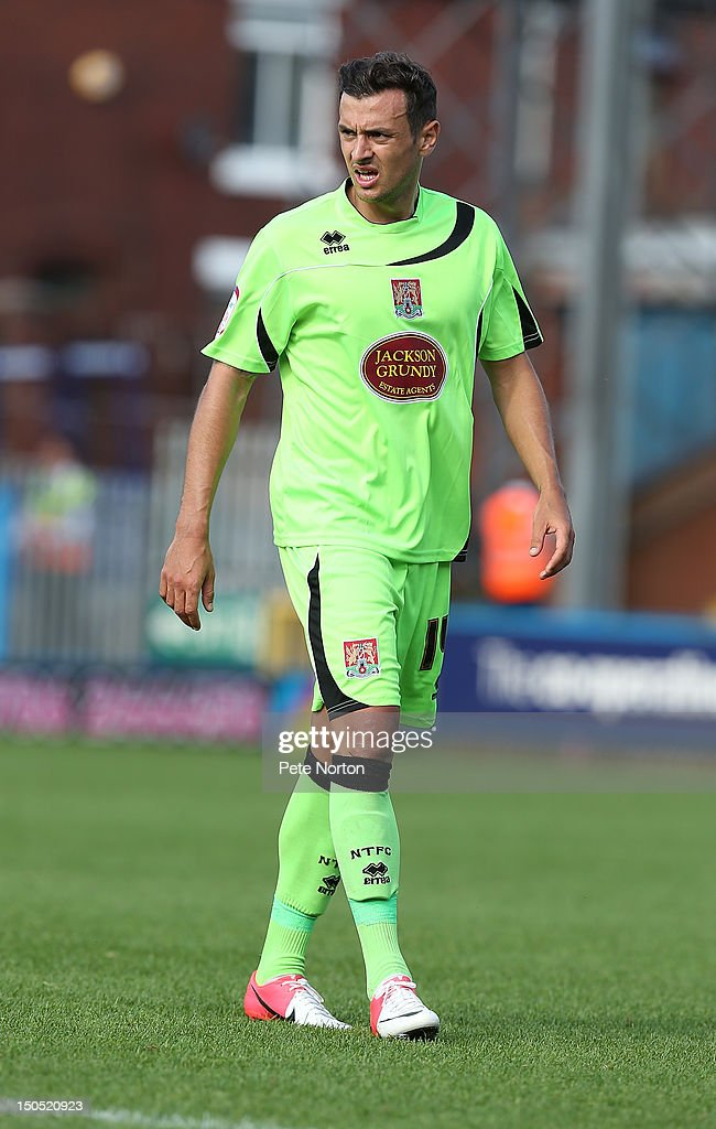 Alex Nicholls of Northampton Town in action during the npower League Two match between Rochdale and Northampton Town at Spotland Stadium on August 18, 2012 in Rochdale, England.