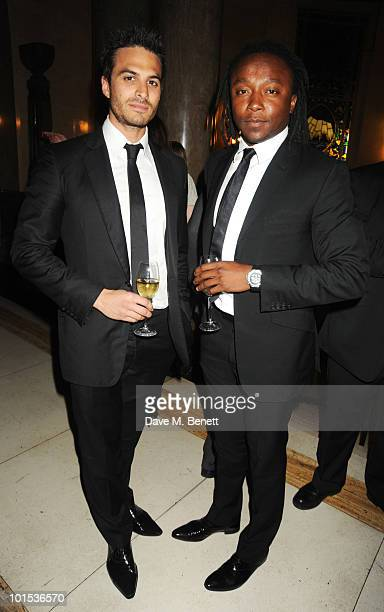 Alex Nicol and Freddie Achom attend the Quintessentially Awards at Freemasons Hall on June 1 2010 in London England