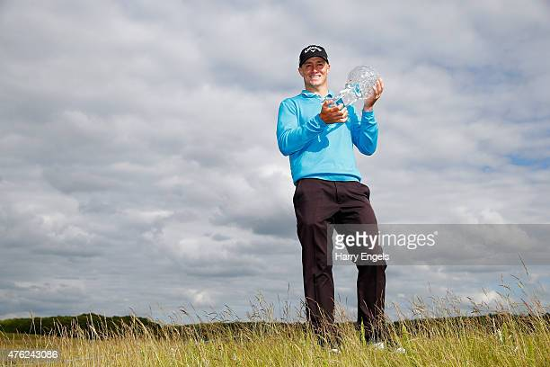 Alex Noren of Sweden celebrates his victory with the trophy after day four of the Nordea Masters at PGA Sweden National on June 7 2015 in Malmo Sweden