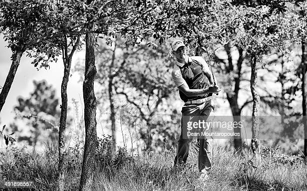 Alex Noren of Sweden hits his second shot on the 1st hole during Day 3 of the Open de Espana held at PGA Catalunya Resort on May 17 2014 in Girona...