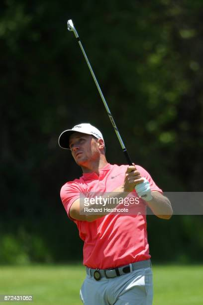 Alex Noren of Sweden hits his second shot on the 8th hole during the second round of the Nedbank Golf Challenge at Gary Player CC on November 10 2017...