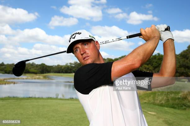 Alex Noren of Sweden poses during previews ahead of the ISPS HANDA World Super 6 Perth at Lake Karrinyup Country Club on February 15 2017 in Perth...