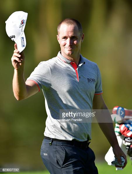 Alex Noren of Sweden reacts on the 18th green during day four of the Nedbank Golf Challenge at Gary Player CC on November 13 2016 in Sun City South...