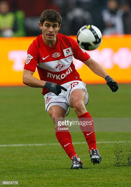 Alex of FC Spartak Moscow in action during the Russian Football League Championship match between FC Spartak and FC CSKA at the Luzhniki Stadium on...