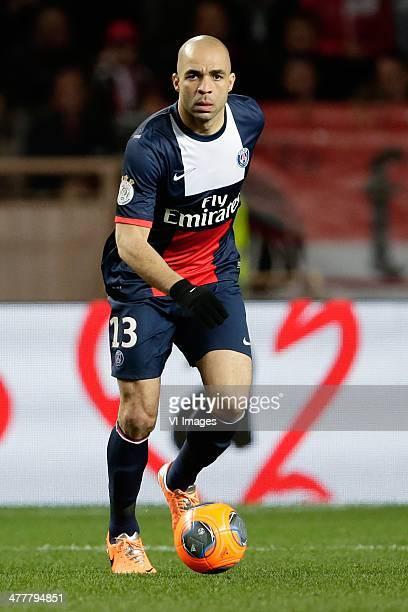 Alex of Paris Saint Germain during the France Ligue 1 match between AS Monaco and Paris SaintGermain at Stade Louis II on february 9 2014 in Monaco...