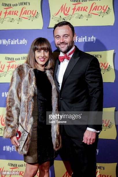 Alex Orasi and Gyton Grantley arrive ahead of opening night of My Fair Lady at Regent Theatre on May 16 2017 in Melbourne Australia