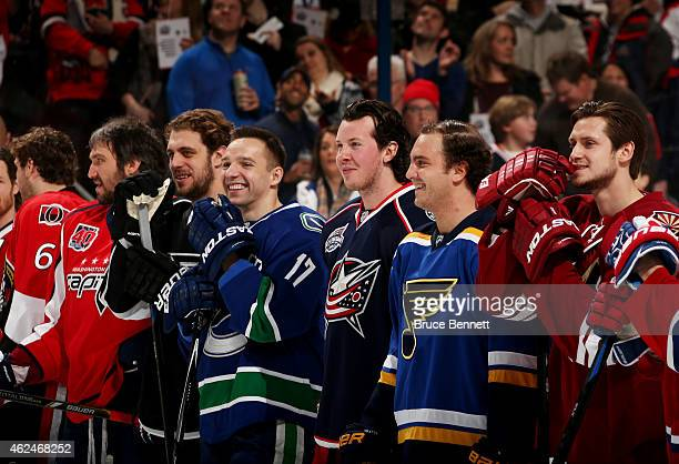 Alex Ovechkin of the Washington Capitals and Team Foligno Anze Kopitar of the Los Angeles Kings and Team Foligno Radim Vrbata of the Vancouver...