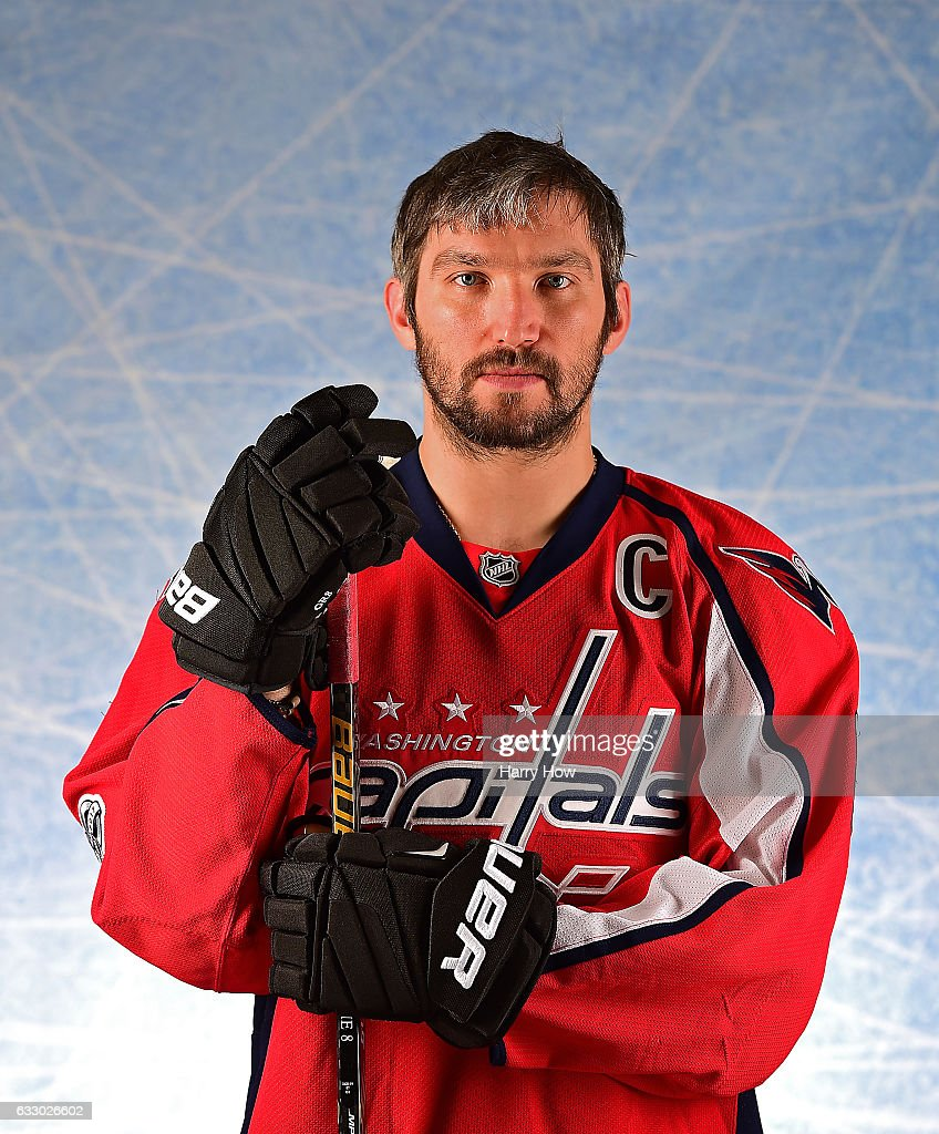 Alex Ovechkin #8 of the Washington Capitals poses for a portrait prior to the 2017 Honda NHL All-Star Game at Staples Center on January 29, 2017 in Los Angeles, California.