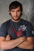 Alex Ovechkin of the Washington Capitals poses for the NHLI Stylized Portrait shoot during the NHL Media Tour at the Empire Hotel on September 8 2009...