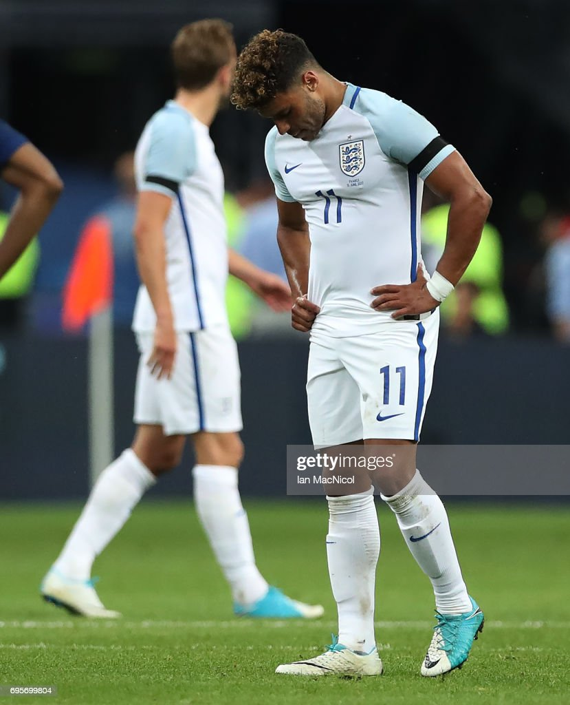 Alex Oxlade-Chamberlai of England reacts at full time during the international Friendly match between France and England at Stade de France, on June 13, 2017 in Paris, France.