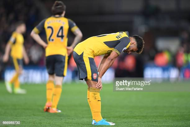 Alex OxladeChamberlain of Arsenal after the Premier League match between Crystal Palace and Arsenal at Selhurst Park on April 10 2017 in London...