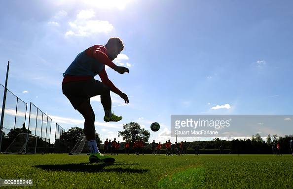 Alex OxladeChamberlain of Arsenal during a training session at London Colney on September 23 2016 in St Albans England