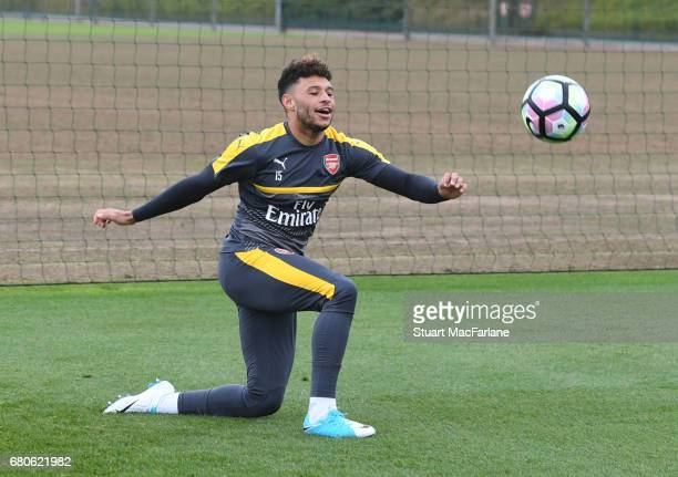 Alex OxladeChamberlain of Arsenal during a training session at London Colney on May 9 2017 in St Albans England