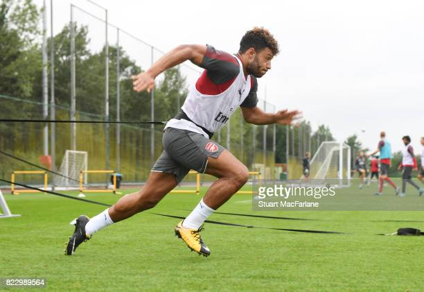 Alex OxladeChamberlain of Arsenal during a training session at London Colney on July 26 2017 in St Albans England