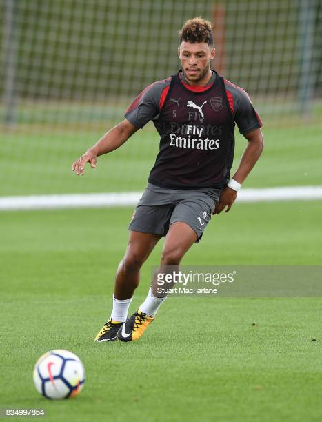 Alex OxladeChamberlain of Arsenal during a training session at London Colney on August 18 2017 in St Albans England