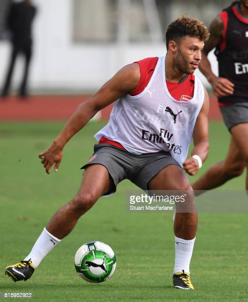 Alex OxladeChamberlain of Arsenal during a training session at the Yuanshen stadium in Shanghi on July 17 2017 in Shanghai China