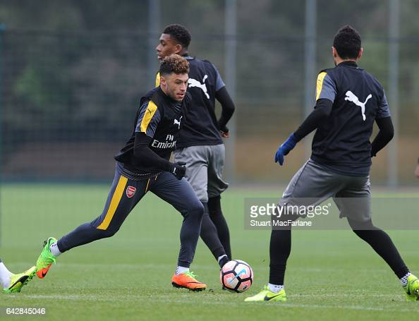 Alex OxladeChamberlain of Arsenal during a training session on February 19 2017 in St Albans England
