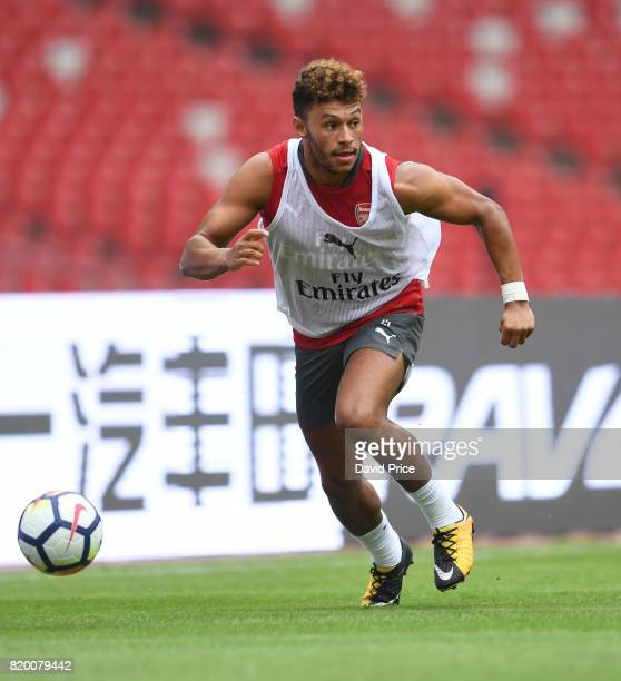 Alex OxladeChamberlain of Arsenal during an Arsenal Training Session at the Birds Nest on July 21 2017 in Beijing China