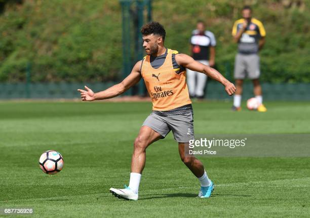 Alex OxladeChamberlain of Arsenal during the Arsenal Training Session at London Colney on May 24 2017 in St Albans England