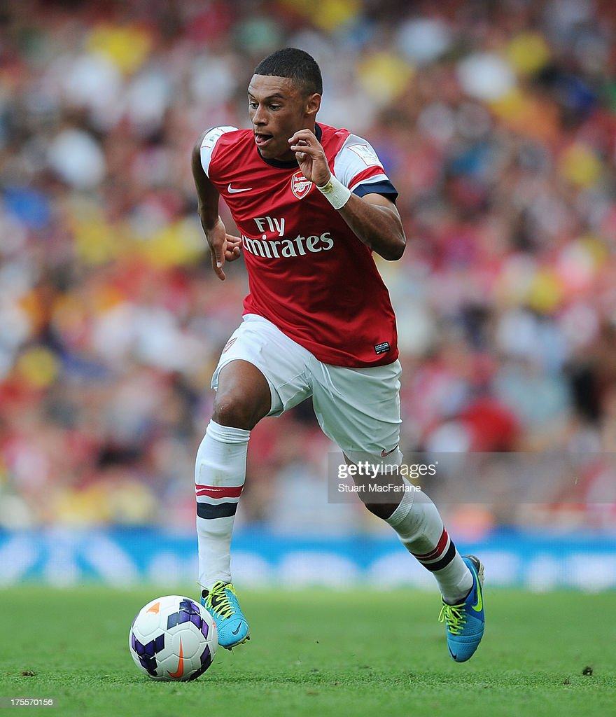 Alex Oxlade-Chamberlain of Arsenal during the Emirates Cup match between Arsenal and Galatasaray at the Emirates Stadium on August 04, 2013 in London, England.