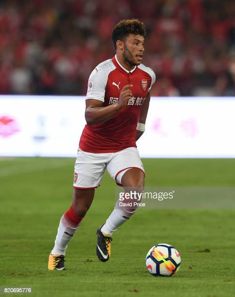 Alex OxladeChamberlain of Arsenal during the match between Arsenal and Chelsea at Birds Nest on July 22 2017 in Beijing China