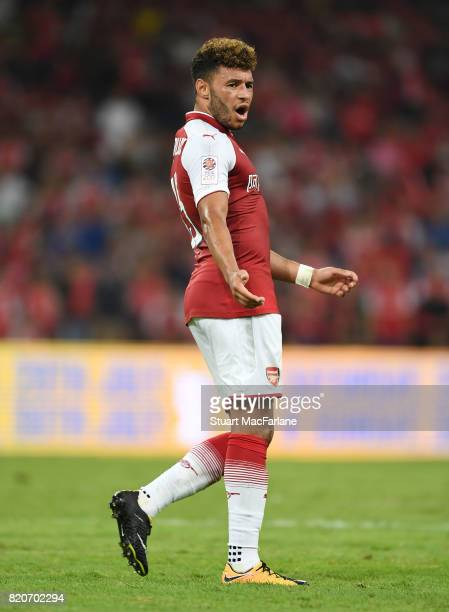 Alex OxladeChamberlain of Arsenal during the pre season friendly between Arsenal and Chelsea at the Birds Nest on July 22 2017 in Beijing
