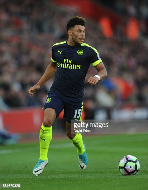 Alex OxladeChamberlain of Arsenal of Southampton during the Premier League match between Southampton and Arsenal at St Mary's Stadium on May 10 2017...