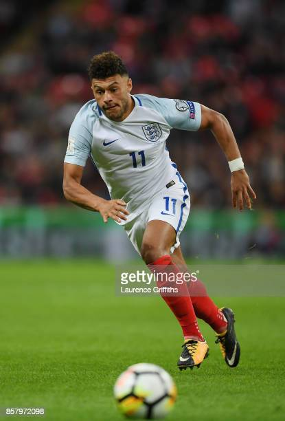 Alex OxladeChamberlain of England during the FIFA 2018 World Cup Group F Qualifier between England and Slovenia at Wembley Stadium on October 5 2017...
