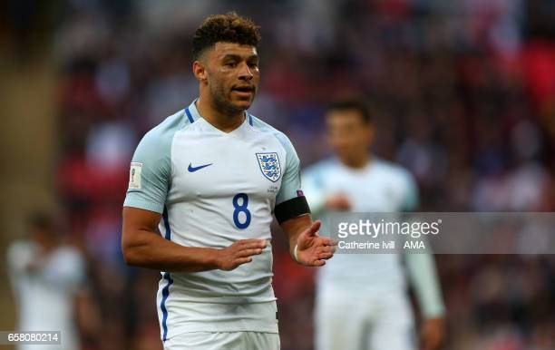 Alex OxladeChamberlain of England during the FIFA 2018 World Cup Qualifier between England and Lithunania at Wembley Stadium on March 26 2017 in...