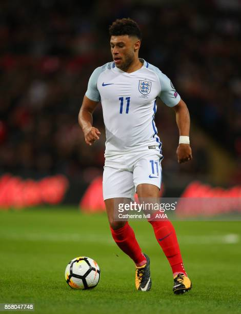 Alex OxladeChamberlain of England during the FIFA 2018 World Cup Qualifier between England and Slovenia at Wembley Stadium on October 5 2017 in...