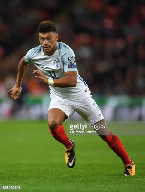 Alex OxladeChamberlain of England in action during the FIFA 2018 World Cup Qualifier between England and Slovenia at Wembley Stadium on October 5...
