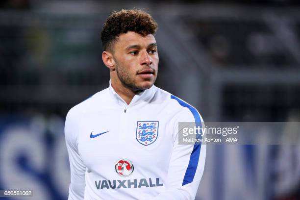 Alex OxladeChamberlain of England looks on prior to the international friendly match between Germany and England at Signal Iduna Park on March 22...