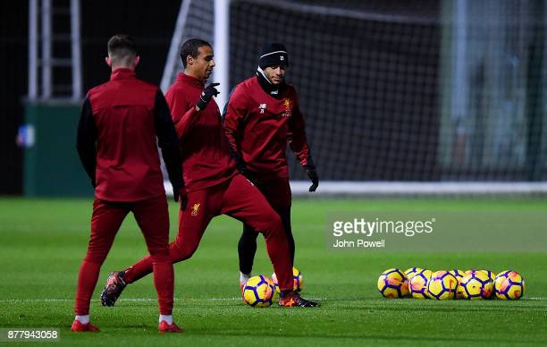 Alex OxladeChamberlain of Liverpool during a training session at Melwood Training Ground on November 23 2017 in Liverpool England