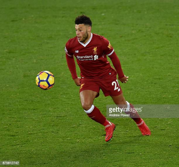 Alex OxladeChamberlain of Liverpool during the Premier League match between Liverpool and Southampton at Anfield on November 18 2017 in Liverpool...
