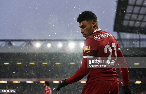 Alex OxladeChamberlain of Liverpool during the Premier League match between Liverpool and Everton at Anfield on December 10 2017 in Liverpool England