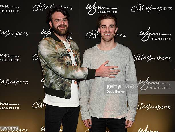 Alex Pall and Andrew Taggart of The Chainsmokers arrive at XS Nightclub for the kick off a threeyear Wynn Nightlife residency in Las Vegas on January...