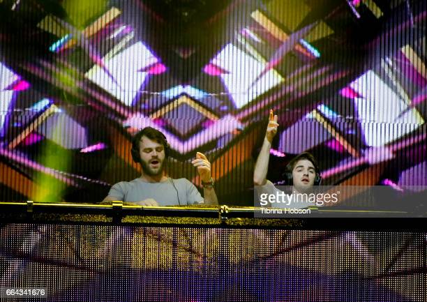 Alex Pall and Andrew Taggart of The Chainsmokers perform at the NCAA March Madness Music Festival 2017 on April 1 2017 in Margaret T Hance Park in...