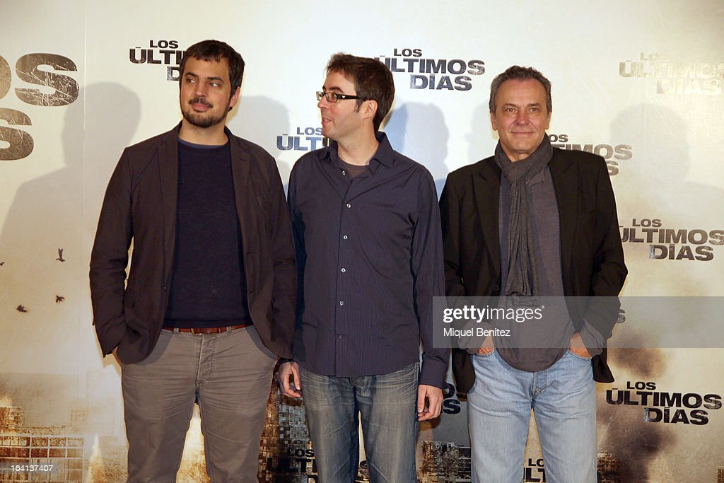 Alex Pastor, David Pastor and Jose Coronado attend the photocall of 'Los Ultimos Dias' on March 20, 2013 in Barcelona, Spain.